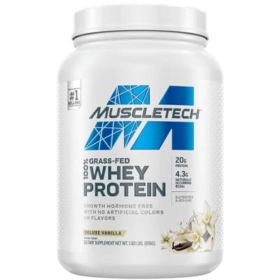 MuscleTech Grass Fed 100% Whey Protein Powder - Vanilla - 1.8lbs