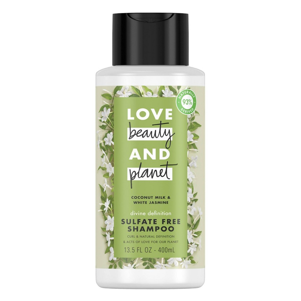 Love Beauty Planet Coconut Milk And White Jasmine Divine Definition Shampoo 13 5 Fl Oz