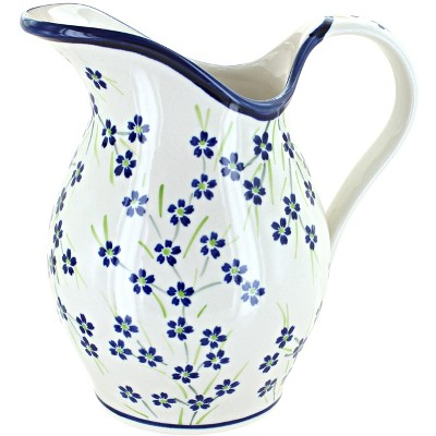 Blue Rose Polish Pottery Willow Pitcher