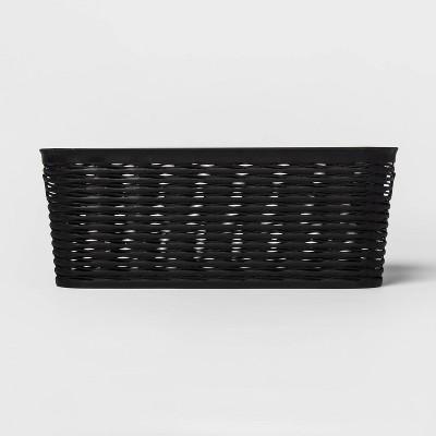 Wave 1/2 Medium Rectangle Decorative Storage Bin Black - Room Essentials™