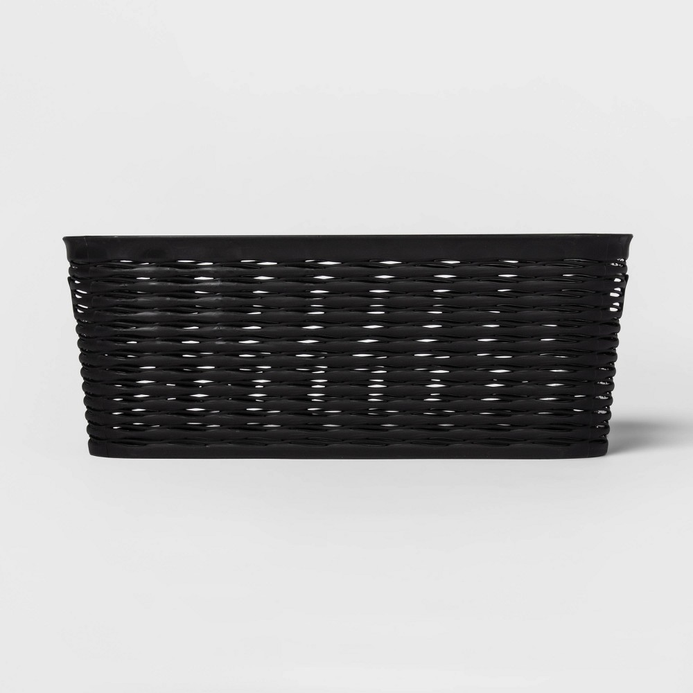 Wave 1 2 Medium Rectangle Decorative Storage Bin Black Room Essentials 8482