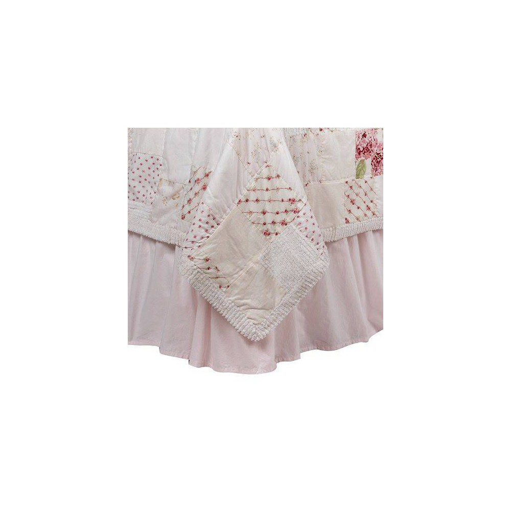Image of Pink Bedskirt - California King - Simply Shabby Chic