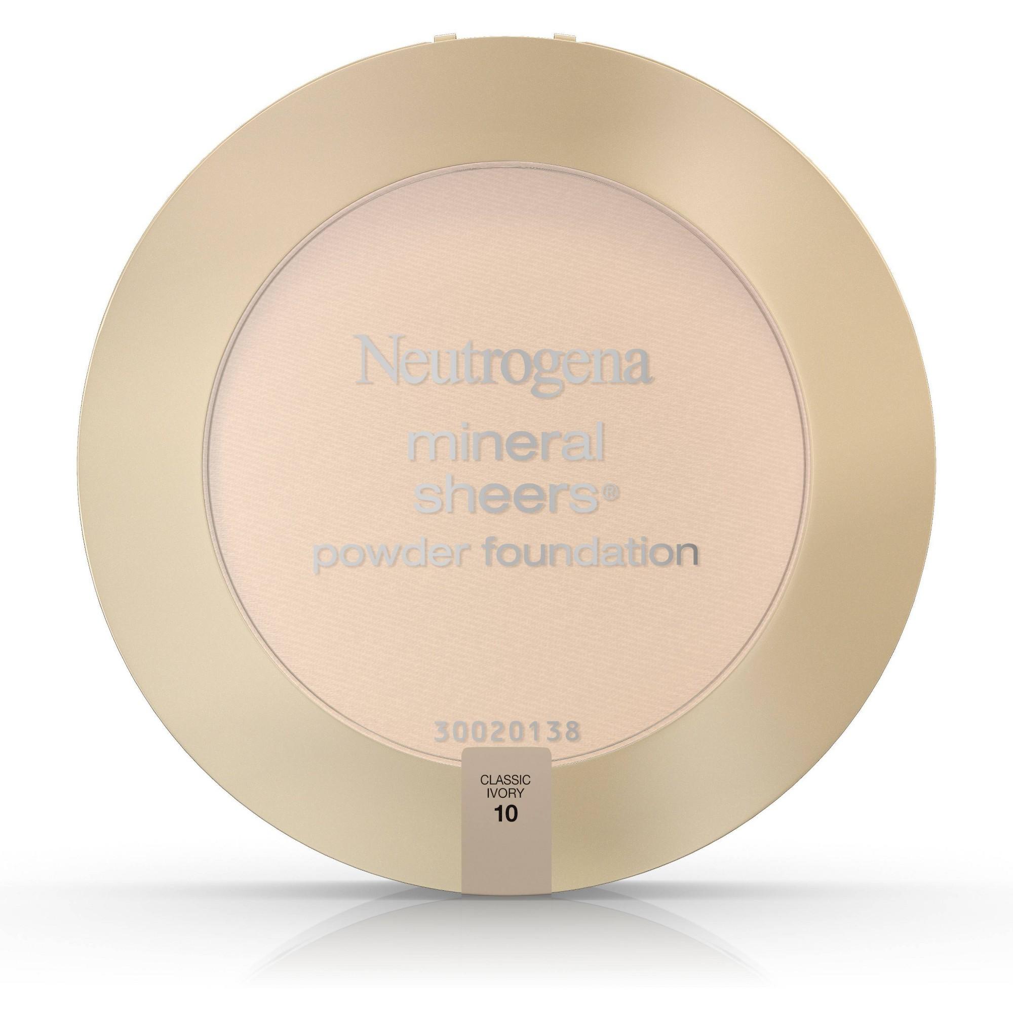 Neutrogena Mineral Sheers Compact Powder - 10 Classic Ivory, Classic Ivory 10