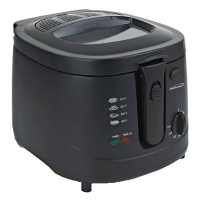 Brentwood 2.5 Lt. Deep Fryer 1500 Watts in Black