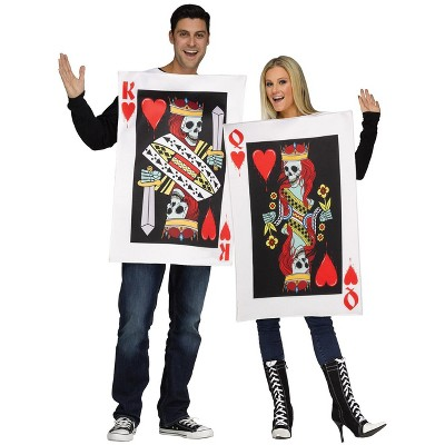 Fun World King & Queen of Hearts Adult Couples Costume