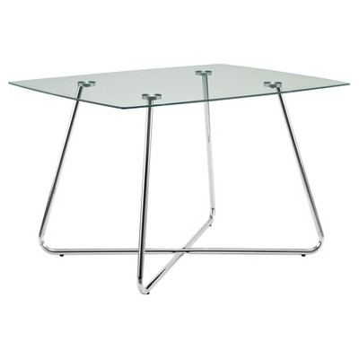 Dining Table - Chrome with Tempered Glass - EveryRoom