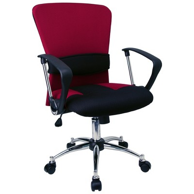 Flash Furniture Mid-Back Mesh Swivel Task Office Chair with Adjustable Lumbar Support and Arms