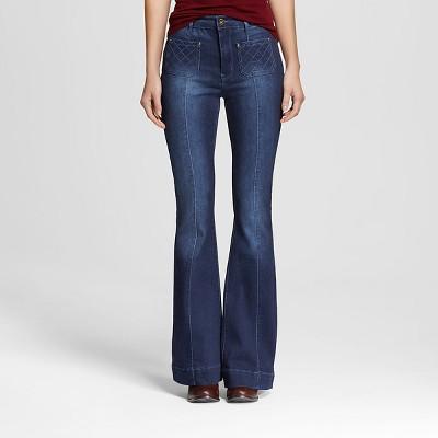 Womenu0027s High Rise Flare Jeans Dark Wash-Dollhouse (Juniorsu0027)