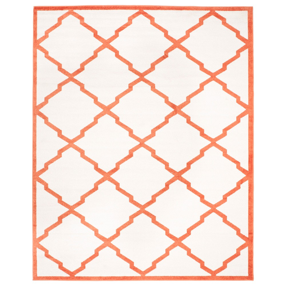 Rectangle 8' X 10' Outer Patio Rug - Beige / Orange - Safavieh