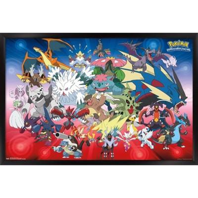Pokemon - Mega Evolutions Framed Poster Trends International