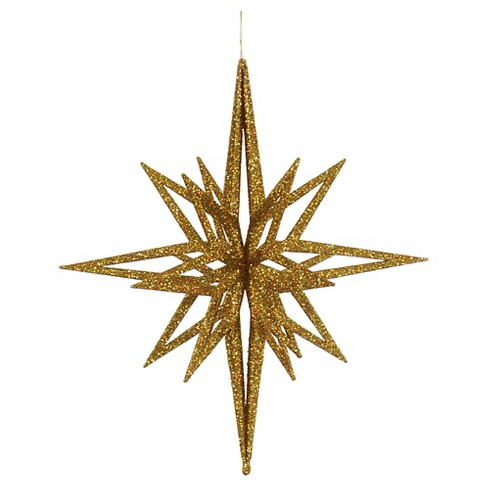 "16"" Gold Glitter 3D Star Christmas Ornament - image 1 of 1"