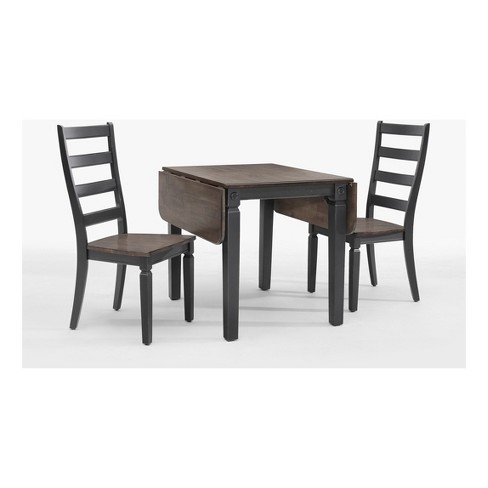 Glennwood Drop Leaf Dining Table Black - Intercon - image 1 of 2