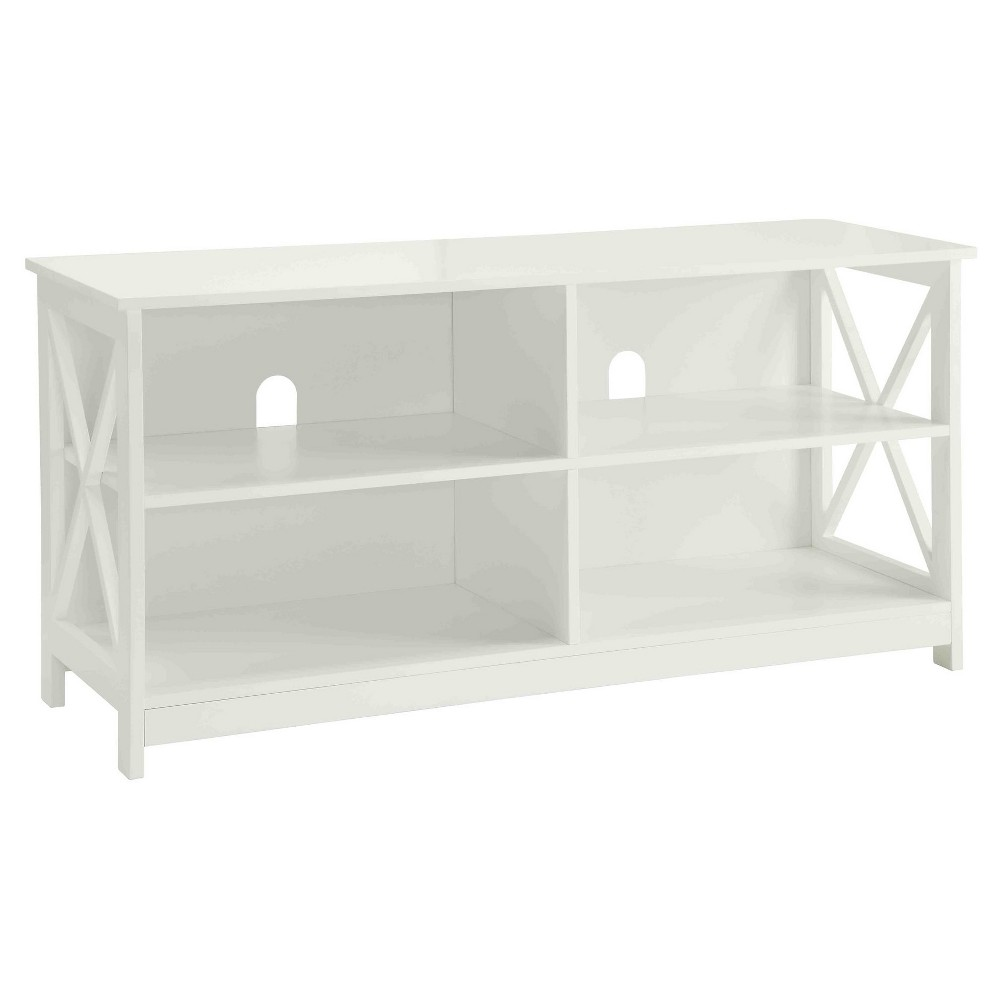 Oxford TV Stand - White - Convenience Concepts