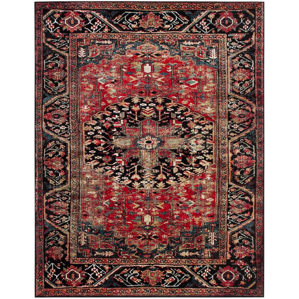 "Image of ""10'6""""X14' Loomed Medallion Area Rug Red - Safavieh"""