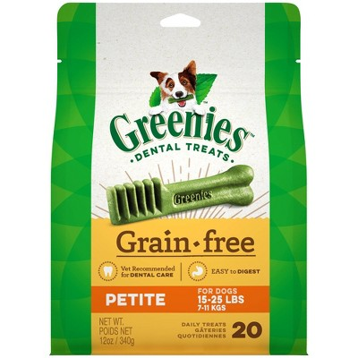 Dog Treats: Greenies Grain Free Petite