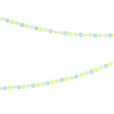 Meri Meri - Neon Confetti Garland - Party Decorations and Accessories - 1ct