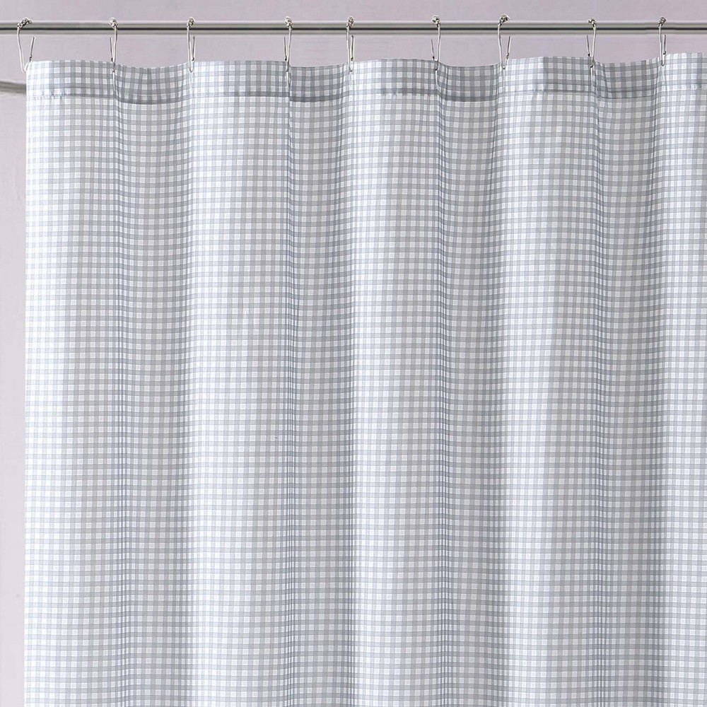 Image of Anytime Gingham Shower Curtain Gray - My World
