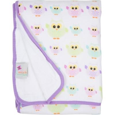 MiracleWare Owls Muslin Baby Blanket