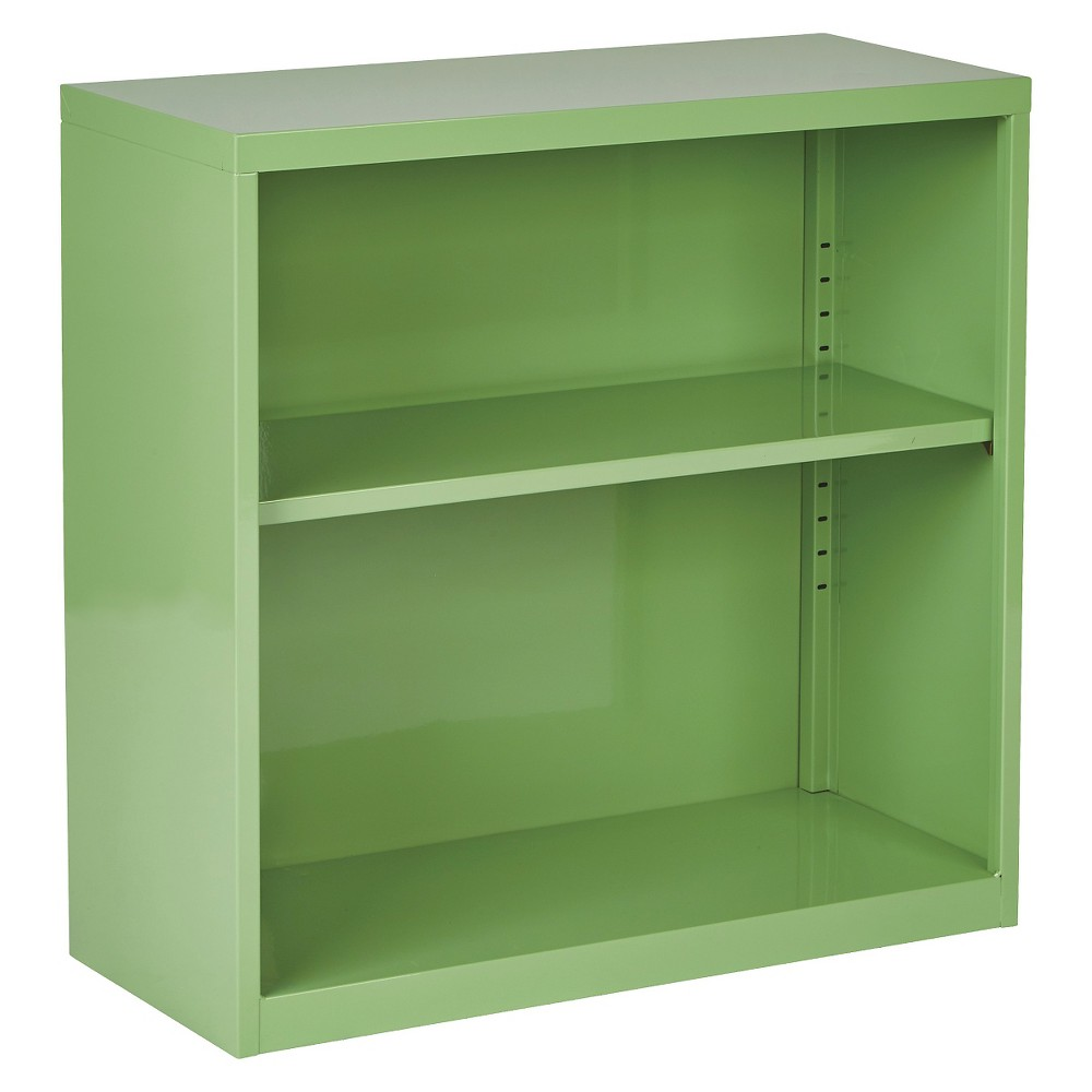 """Image of """"28"""""""" Metal Bookcase Green - OSP Home Furnishings"""""""