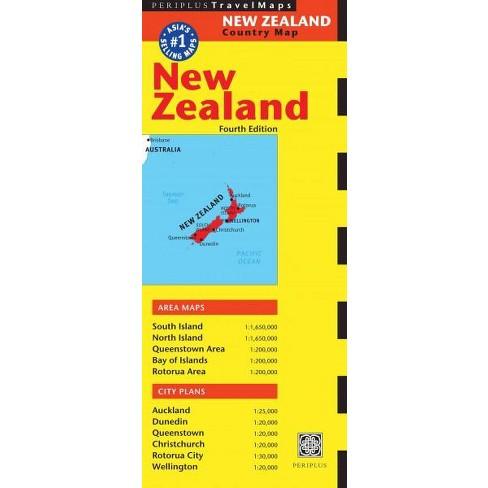 Travel Map New Zealand.New Zealand Travel Map Fourth Edition Australia Regional Maps 4 Edition Sheet Map Folded