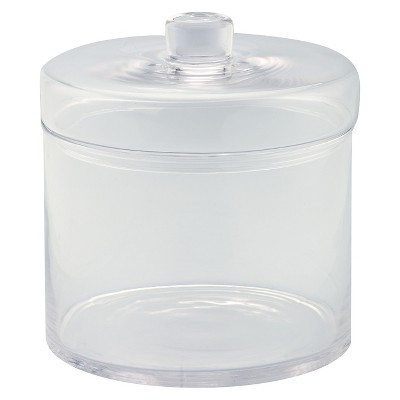 "Diamond Star Glass Apothecary Jar with Lid Clear (8.5""x8"")"
