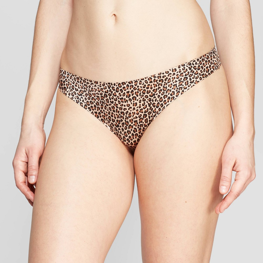 Women's Bonded Micro Thong - Auden Natural Animal XL