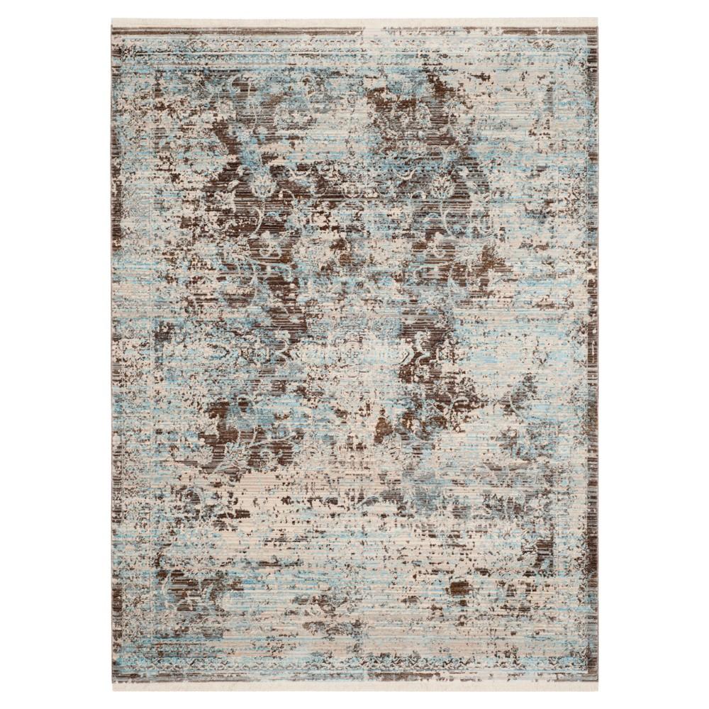 Vintage Persian Rug - Brown/Light Blue - (6'X9') - Safavieh