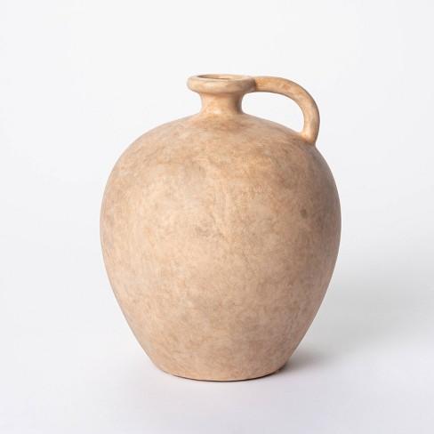 "8"" X 7"" Weathered Jug Vase Brown - Threshold™ Designed With Studio Mcgee :  Target"