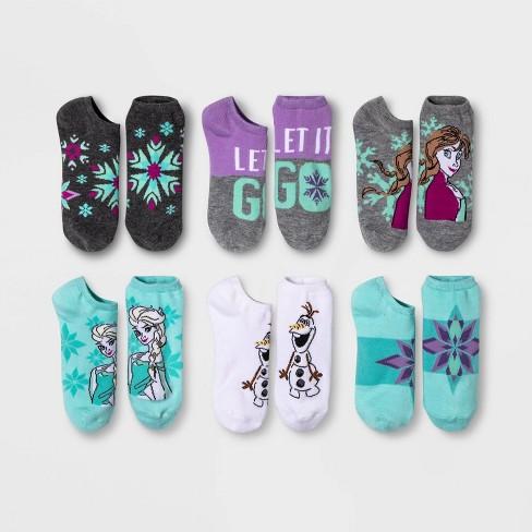 Women's Frozen 6pk Low Cut Socks - Blue/Purple One Size - image 1 of 2