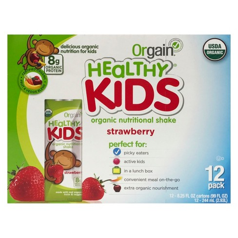 Orgain Kids Organic Nutritional Protein Shake - Strawberry - 12ct - image 1 of 4