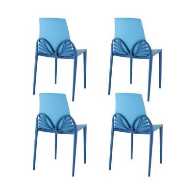 4pc Papillon Dining Chairs - Blue - Lagoon