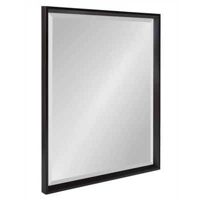 "24"" x 30"" Calter Framed Wall Mirror Black - Kate and Laurel"