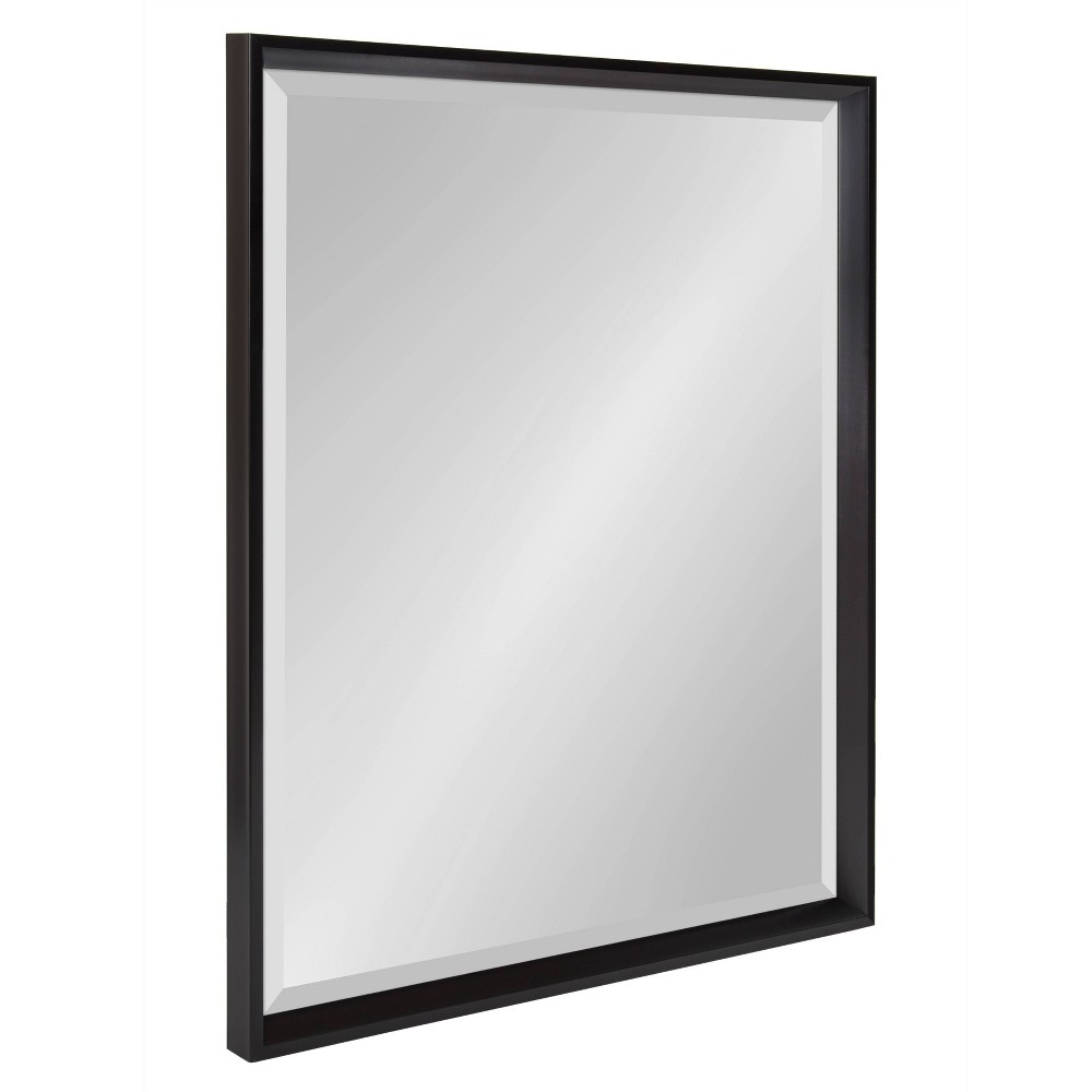 """Image of """"23.5""""""""x29.5"""""""" Calter Framed Wall Mirror Black - Kate and Laurel"""""""