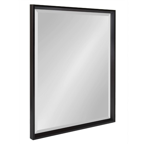"""24"""" x 30"""" Calter Framed Wall Mirror Black - Kate and Laurel - image 1 of 4"""