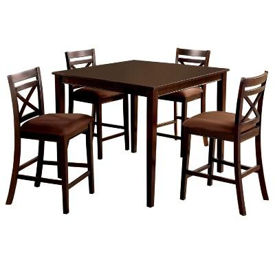 ioHomes 5pcs Dallas Dining Table Set Wood/Espresso