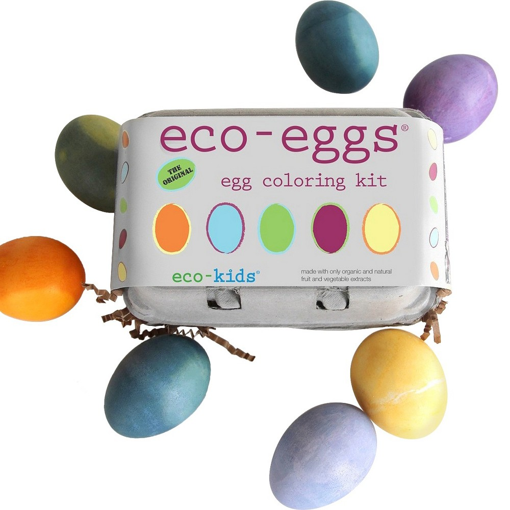 Image of Eco-Kids Eco-Eggs Coloring and Grass Growing Kit
