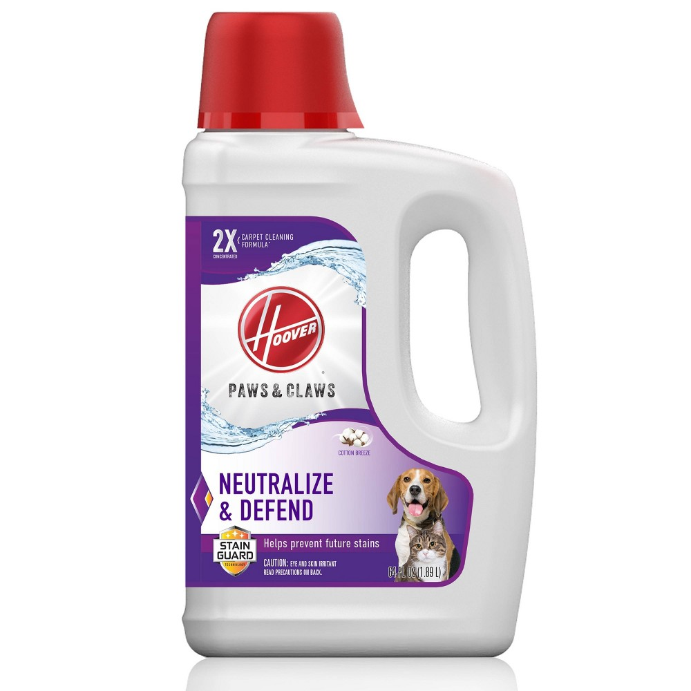 Image of Hoover Paws & Claws Carpet Cleaning Solution with Stainguard 64 oz