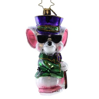 Christopher Radko Mischievous Mouse Star Sunglasses Christmas  -  Tree Ornaments