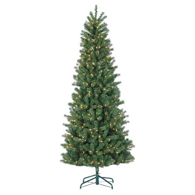 7.5ft Pre-Lit Artificial Christmas Tree Traditional Montgomery Pine - Clear Lights