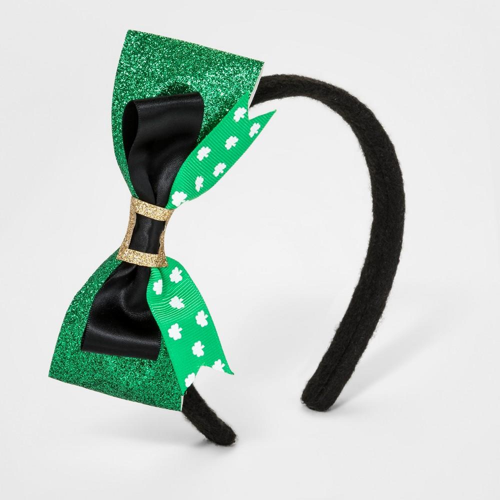 Bow Headband - Green/Black