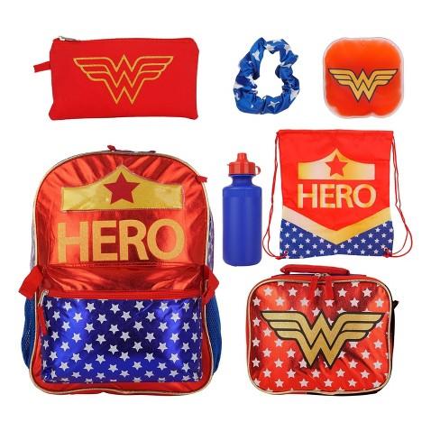 "DC Comics Wonder Woman 16"" Kids' Backpack Set - 7pc - image 1 of 4"