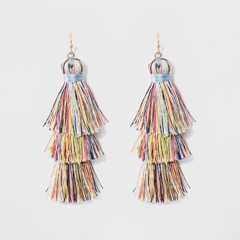 SUGARFIX by BaubleBar Tiered Tassel Drop Earrings - image 1 of 4