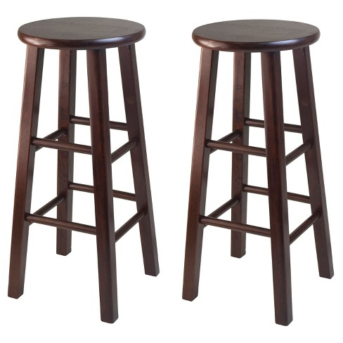 "29"" Pacey 2pc Bar Stool Set - Antique Walnut - Winsome - image 1 of 1"