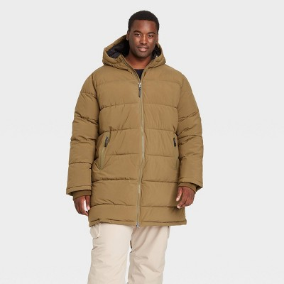 Men's Big & Tall Mid-Length Puffer Jacket - All in Motion™ Green 2XB