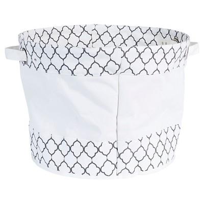 Household Essentials Krush Round Tote Bag White/Black