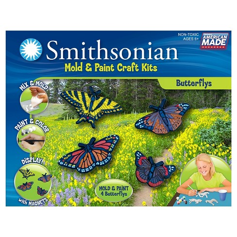 Smithsonian® Mold & Paint Craft Kit - Butterflies - image 1 of 1