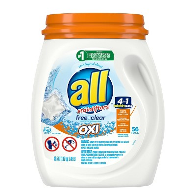 Laundry Detergent: All Mighty Free Clear Oxi Pacs