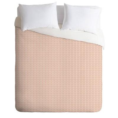 Little Arrow Design Co Boreas Chevron Comforter Set Pink - Deny Designs