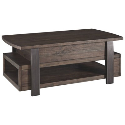 Vailbry Lift Top Cocktail Table Brown Signature Design By Ashley