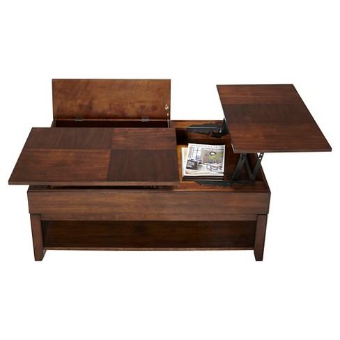 Daytona Coffee Table Double Lift Top Regal Walnut Progressive Furniture Target